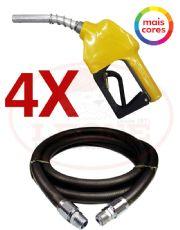 Combo com 4 Bicos Automáticos 11A OPW + 4 Mangueiras para Combustível 3/4´´ 5 Metros Transpower