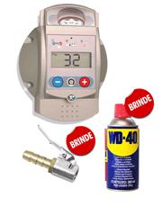 Calibrador de Pneus Eletrônico Modelo Garagem + WD-40 Spray 300ml (Brinde) + Bico Auto Travante (Brinde) - Excelbr