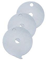 Papel Filtrante Redondo 2 Furos 7x7 - Caixa com 10kg - LEONE
