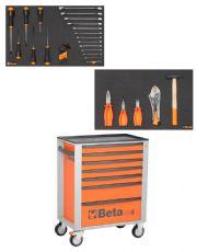 Carro com Jogo de 33 Ferramentas Para Uso Mecânico - C24S - Beta