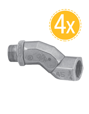 Combo 4 Conexões Giratórias 360 Graus 3/4´´ Polegada - OPW