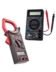 Combo Alicate Amperímetro Digital Multímetro 100684 + Multímetro Digital 100706 - Worker