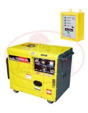 Gerador de Energia à Diesel com ATS - 6 KVA - Cabinado - 220Trif - TD7000SGE3D-ATS