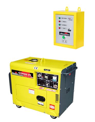 Gerador de Energia à Diesel - Com ATS - 6 KVA - Cabinado - 110/220V Mono - TD7000SGE-ATS - Toyama
