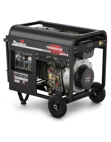 Gerador de Energia à Diesel - 8 KVA - Aberto - 220V Trif - TDG8000CXE3D - Toyama