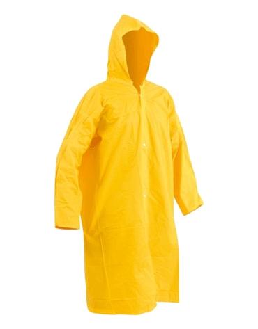 Capa de Chuva Amarela com Capuz