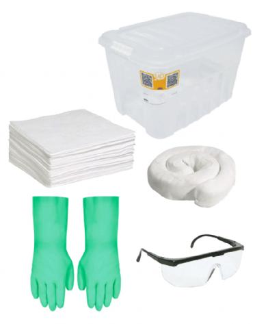 Kit Emergencial Ambiental - Contenção de Vazamento - 25 litros
