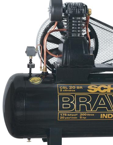 Compressor de Ar Trifásico - 175 psi - 20 pcm - 200 Lts - CSL20BR200T