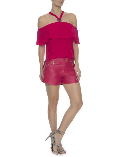SHORTS  COURO CLARICE