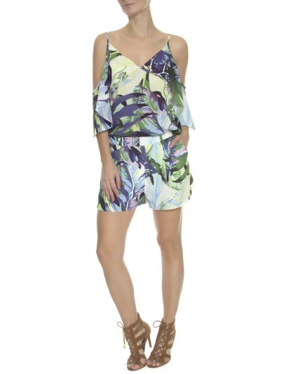 SHORTS   FOLHAGEM TROPICAL
