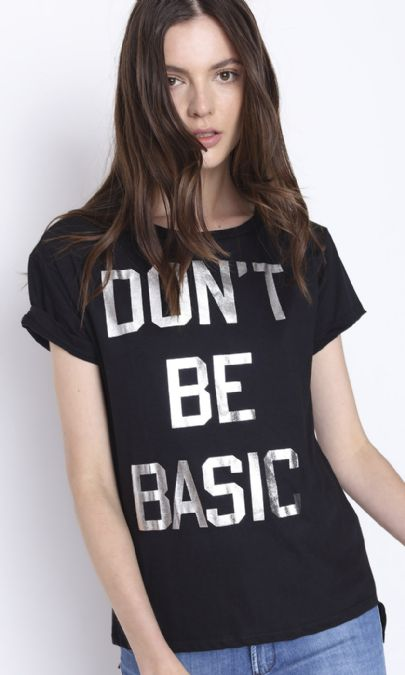 CAMISETA DONT BE BASIC