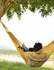 Rede De Dormir E Descanso Camping Nylon amarela