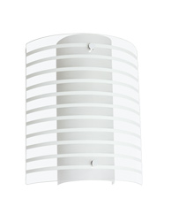Arandela com Listras Brancas Para 1 Lâmpada E27 de Até 15W - AR6718B - Kin Light