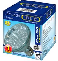 Led Par 30 com 18 leds 1W X 127V Branca Fria (Luz Branca) E27 - 04020138 - FLC