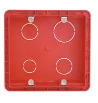 Caixa Embutir 4x4 Pvc Com Orelha Metálica Vermelha - 689015- Pial Legrand