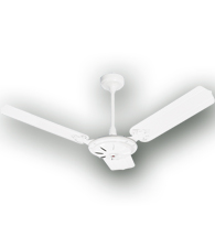 Ventilador de Teto Comercial ECO (sem lustre) com 3 pás 220V  Branco -  36/3204  BC - Venti-Delta