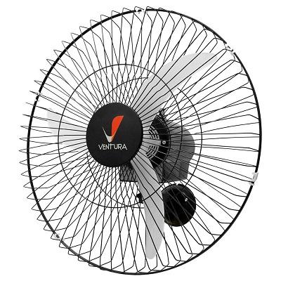 Ventilador de Parede 60cm Bivolt 3 Velocidades Preto, Ventura