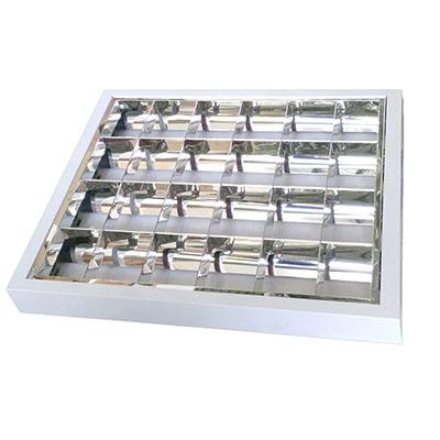 Luminária de Sobrepor 4x14 Com Refletor Para Lâmpada T5 - Indelpa