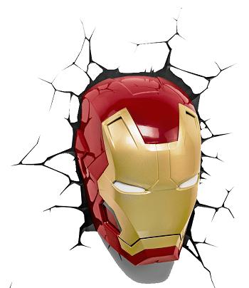Arandela Led 3D Máscara do Homem de Ferro 121400001 Starte