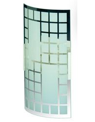 Arandela Xadrez Pequena 70x130x200 Para 1 Lampada E-27 - 70 BR/FC - Emalustres