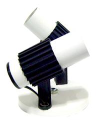 Spot Aletado Branco/preto E27 Para 2 Lâmpadas Até 60w - Sp17252brcpt - Kin Light