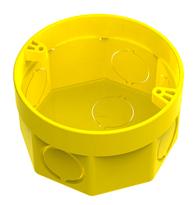 Caixa de Embutir 3X3 PVC Octogonal Amarela - 33043171- Tigre