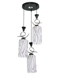 Pendente com Canopla Redonda Para 3 Lâmpadas E27 de Até 25W - Cromado - Grafics - 19373 - Kin Light