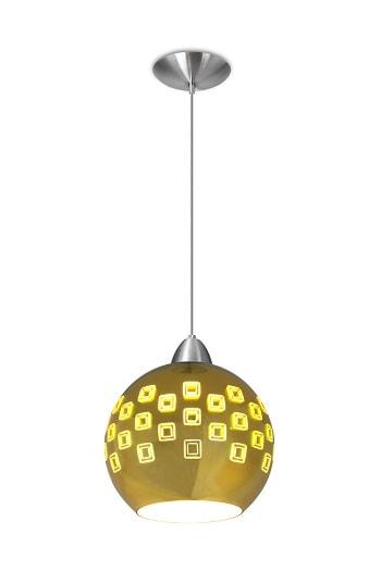 Pendente 3D Atlanta Dourado para lâmpada E27 PD1097 DR King Light