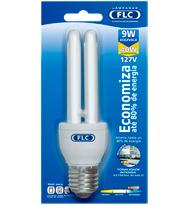 Lâmpada Eletrônica Dupla 9W X 127V Branca Fria (Luz Branca) E27 - Embalagem com 10 Peças - 01010018 - FLC