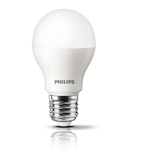Lâmpada Led Bulbo 6W 3000K Luz Branca Quente E27 600 Lúmens Certificada LEDB7-40WMVS Philips