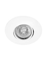 Spot de Embutir Redondo Dirigível de Alumínio Para 1 Lâmpada Dicroica de Até 50w Branco - Mf 060 Br - Metal Técnica
