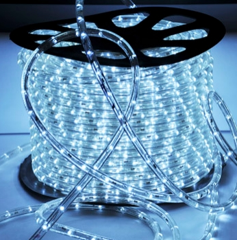 MANGUEIRA DE LED 2 FIOS BRANCA FRIA 220V RL 100 MTS M-BC FRIA 220V B B BAUER