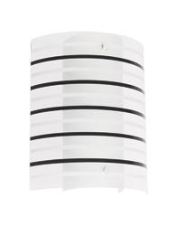 Arandela com Listras Pretas Para 1 Lâmpada E27 de Até 15W - AR6718P - Kin Light