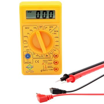 Multímetro Digital com Alarme Sonoro Amarelo - 8522 DT830 - Brasfort