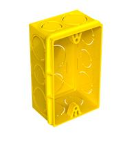 Caixa de Embutir 4X2 PVC Amarela - 33043554 - Tigre