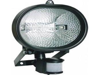 Refletor Halógeno com Sensor de Presença 300W á 500W Sem Lâmpada Soquete Incluso DNI 6018