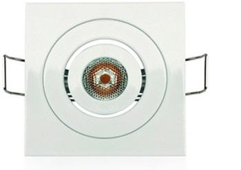 Mini Spot Embutir Quadrado com 1 Led Branco 2,5W Bivolt Luz Branca Fria (Branca)  - 03165 - Ourolux