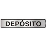 Placa de Aviso Depósito 5x25cm - C05090 - Indika