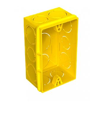Caixa Embutir 4x2 Pvc Amarela 18.791 Amanco