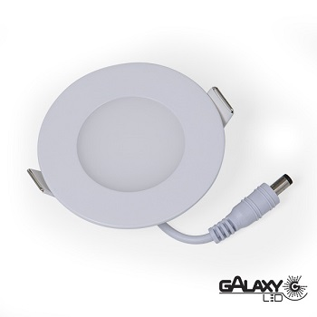 PAINEL DE LED DE EMBUTIR 3W 8,5cm  LUZ BRANCA BIVOLT REDONDO - 140114002 - GALAXY