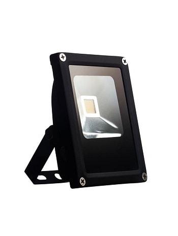 Projetor de Led 10w Bivolt Luz Branca Morna 3000K Preto IP65  Slim - LTFL103000KSLIM - B.Bauer