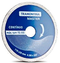 Disco de Corte Diamantado Contínuo 110x 20mm - 4.3/8 x 3/4 - 42594/104 -Tramontina