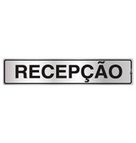 Placa de Aviso Recepção 5x25cm - C05002 - Indika