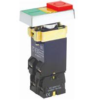 Botão Duplo Luminoso com Lâmpada BA9S INA +1NF - STECK - Código: S-PDL/2 N