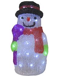 Boneco de Neve Acrilico com 40 Leds 8 Funções 127V - 19215 - Kadio