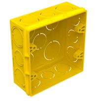 Caixa de Embutir 4x4 PVC Amarela - 33043619 - Tigre