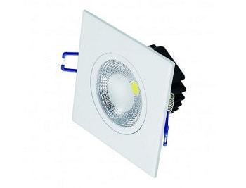 Luminária Led de Embutir Quadrada 5w Bivolt 3000k Luz Branca Amarelada 325 Lumens P26197 Sylvania