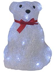 Urso Sentado Acrílico Led Branco 8 Funções 127V - 11553 - Kadio