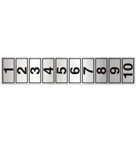 Placa de Numerais de 1 a 10 5x25 Cm - C05009 - Indika
