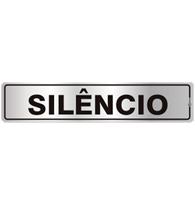 Placa de Aviso Silêncio 5x25cm - C05129 - Indika